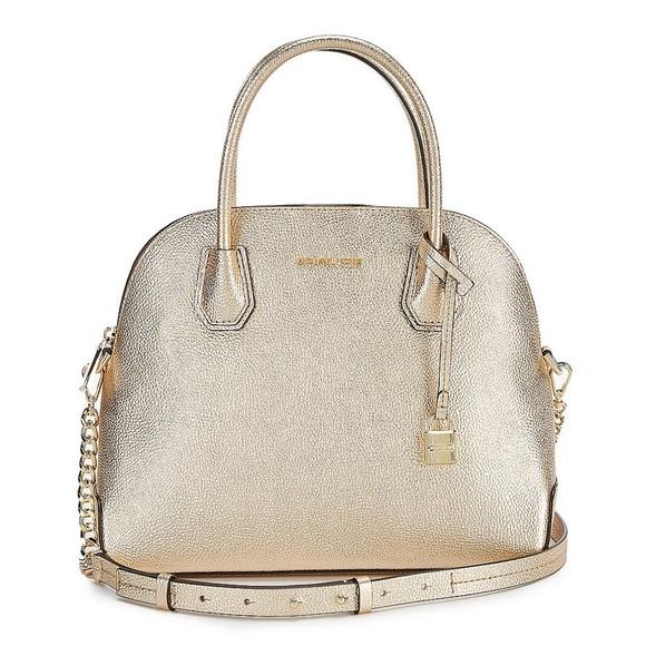1f85d5cffd16 Michael Kors Bags | Leather Mercer Large Dome Satchel | Poshmark